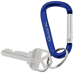 View a larger, more detailed picture of the Carabiner Key Tag - 24 hr