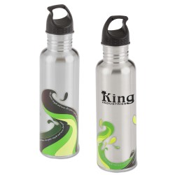 View a larger, more detailed picture of the Stainless Wave Sport Bottle - 25 oz - 24 hr