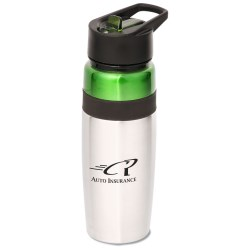 View a larger, more detailed picture of the Titan Stainless Bottle with Loop - 25 oz