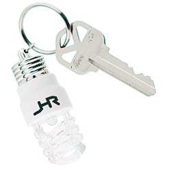 View a larger, more detailed picture of the Light Up Light Bulb Key Tag