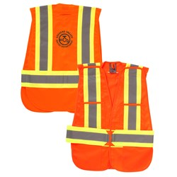 View a larger, more detailed picture of the 5-Point Vertical Stripe Tear Away Safety Vest - Screen