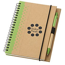 View a larger, more detailed picture of the Dew Drops Recycled Jr Notebook & Pen