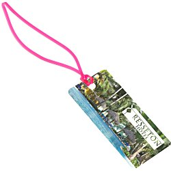 View a larger, more detailed picture of the Rectangle POLYspectrum Bag Tag - Translucent