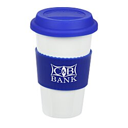 View a larger, more detailed picture of the Manhattan Ceramic Tumbler - 14 oz - Grip Print