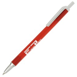 View a larger, more detailed picture of the Value Click Pen - Translucent - Silver
