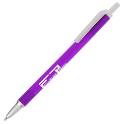 View a larger, more detailed picture of the Value Click Pen - Translucent - Silver - 24 hr