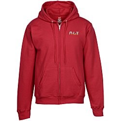 View a larger, more detailed picture of the Hanes ComfortBlend Full-Zip Sweatshirt - Embroidered