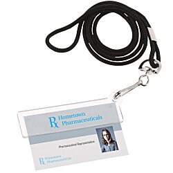 View a larger, more detailed picture of the Easy Slide ID Holder w Lanyard