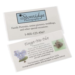 View a larger, more detailed picture of the Compostable Business Card w Seeds - Forget Me Not