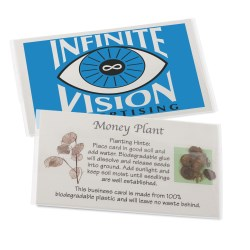 View a larger, more detailed picture of the Compostable Business Card w Seeds - Money Plant