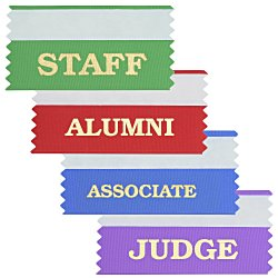 View a larger, more detailed picture of the Stock Badge Ribbons 1-5 8 x 4