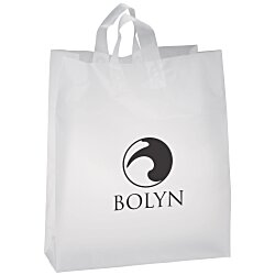 View a larger, more detailed picture of the Soft-Loop Frosted Clear Shopper - 19 x 16