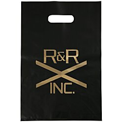 View a larger, more detailed picture of the Colored Frosted Die-Cut Convention Bag 14 x 9-1 2 - Foil