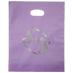View a larger, more detailed picture of the Colored Frosted Die-Cut Convention Bag 15 x 12 - Foil