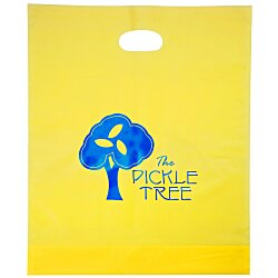View a larger, more detailed picture of the Colored Frosted Die-Cut Convention Bag 18 x 15 - Foil