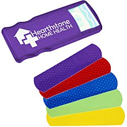 View a larger, more detailed picture of the Kidz Bandage Dispenser Translucent - Colors - 24 hr