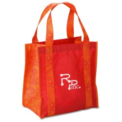 View a larger, more detailed picture of the Grande Printed Shopping Tote - 14 x 12-1 2 - Circles