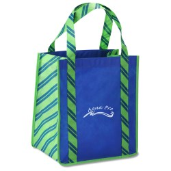View a larger, more detailed picture of the Grande Printed Shopping Tote - 14 x 12-1 2 - Stripes