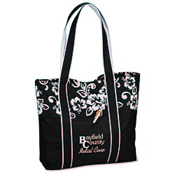 View a larger, more detailed picture of the West Hampton Tote - Hibiscus