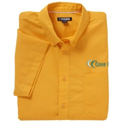 View a larger, more detailed picture of the Easy Care Short Sleeve Poplin Shirt - Men s - Closeout