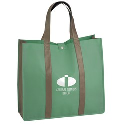View a larger, more detailed picture of the Two-Tone Folding Shopper Tote