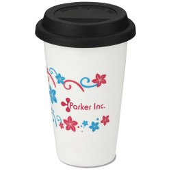 View a larger, more detailed picture of the Terra Coffee Cup - 11 oz - Flowers