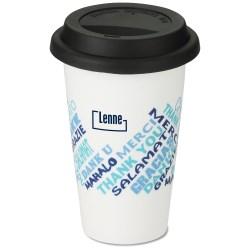 View a larger, more detailed picture of the Terra Coffee Cup - 11 oz - Thanks
