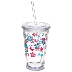 View a larger, more detailed picture of the Spirit Tumbler - 16 oz - Flowers