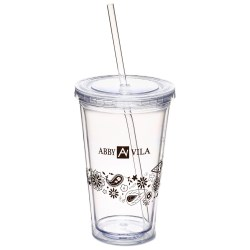 View a larger, more detailed picture of the Spirit Tumbler - 16 oz - Paisley Flower