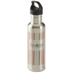 View a larger, more detailed picture of the h2go Bolt Stainless Bottle - 24 oz - Stripes
