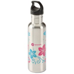 View a larger, more detailed picture of the h2go Bolt Stainless Bottle - 24 oz - Flowers