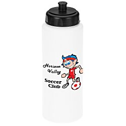 View a larger, more detailed picture of the Full Color Sport Bottle with Push Pull Lid - 32 oz