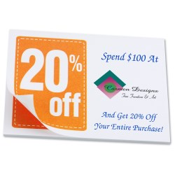 View a larger, more detailed picture of the Post-it&reg Discount Coupons - 3 x 4 - 25 Sheet - 20