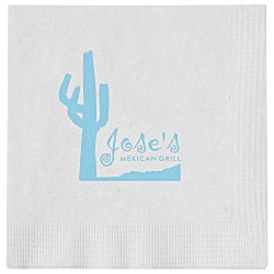 View a larger, more detailed picture of the Beverage Napkin - 1-ply - White