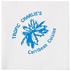 View a larger, more detailed picture of the Beverage Napkin - 1-ply - White - Linen Embossed