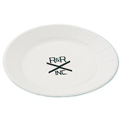 View a larger, more detailed picture of the Plastic-Coated Paper Plates - 7 Round