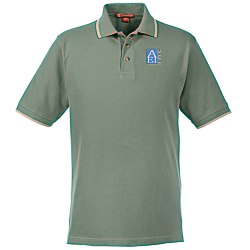 View a larger, more detailed picture of the Harriton 6 oz Pique Polo with Tipping
