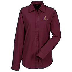 View a larger, more detailed picture of the Broadcloth Value Shirt - Ladies - 24 hr
