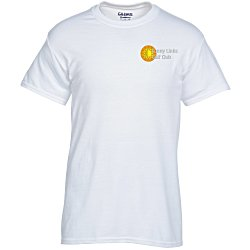 View a larger, more detailed picture of the Gildan 5 6 oz DryBlend 50 50 T-Shirt - Emb - White