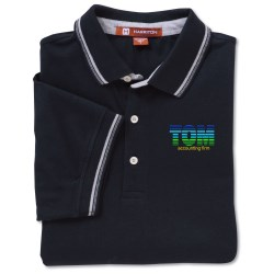 View a larger, more detailed picture of the Harriton 5 9 oz Cotton Jersey Polo w Tipping - Men s