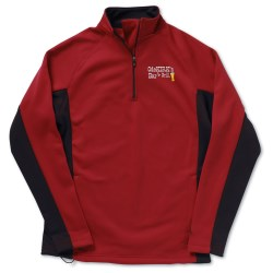 View a larger, more detailed picture of the Champion Double Dry Performance Bonded Half-Zip Fleece