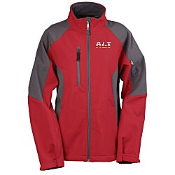 View a larger, more detailed picture of the North End Color Block Soft Shell Jacket - Ladies