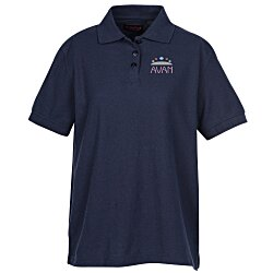 View a larger, more detailed picture of the Whisper Pique 60 40 Blend Polo - Ladies