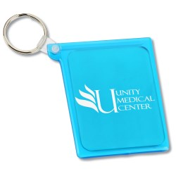 View a larger, more detailed picture of the Quik-Vu Mirror w Key Ring - Translucent