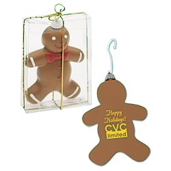 View a larger, more detailed picture of the Shatterproof Ornament - Gingerbread Man
