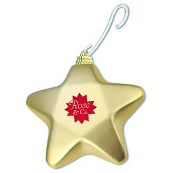 View a larger, more detailed picture of the Shatterproof Ornament - Star