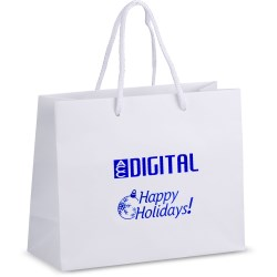 View a larger, more detailed picture of the Holiday Matte Eurotote - 8 x 10 - Happy Holidays