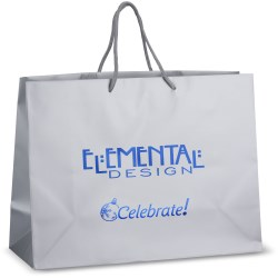 View a larger, more detailed picture of the Holiday Matte Eurotote - 12 x 16 - Celebrate