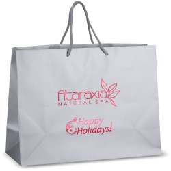View a larger, more detailed picture of the Holiday Matte Eurotote - 12 x 16 - Happy Holidays
