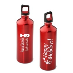 View a larger, more detailed picture of the h2go Stainless Bottle - 24 oz - Happy Holidays - Color